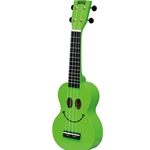 Mahalo Smiley Face Ukulele Green