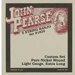 1820 John Pearse 5 String Banjo String Set Light
