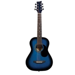 Beaver Creek 1/2 Acoustic Guitar Trans Blue
