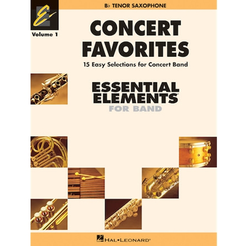 Concert Favorites Vol.1 Tenor Sax