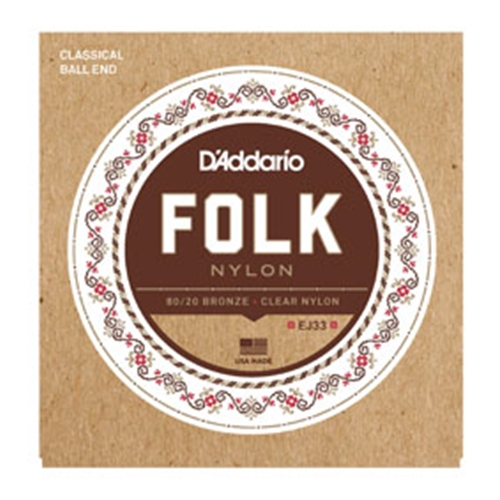 Daddario EJ33 Folk Nylon Ball End Guitar Strings
