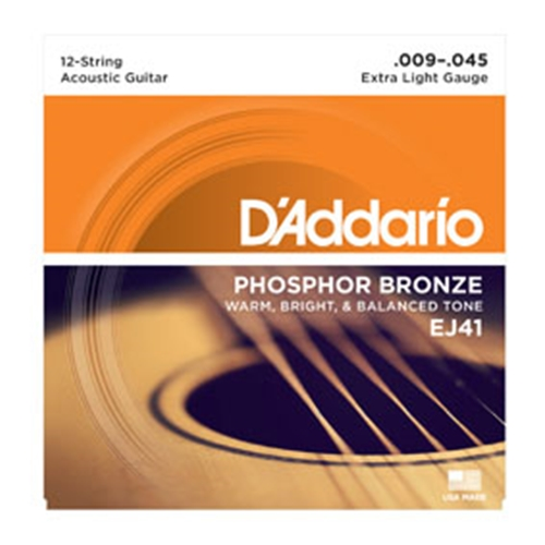 Daddario EJ41 12-String Phos.Bronze, X-Light 9-45 Strings