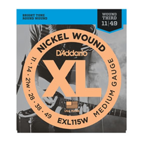 Daddario EXL115W Electric Guitar Strings 11-49 (Wound 3rd)