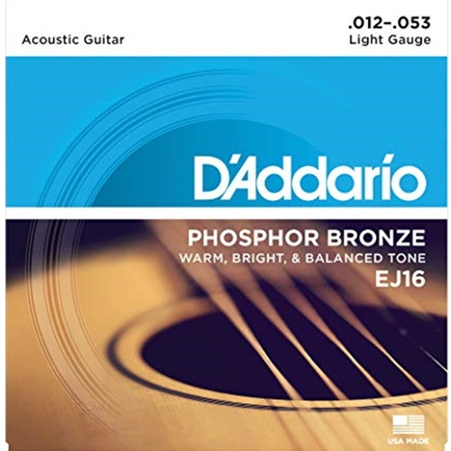 Daddario EJ16 Phosphor Bronze Strings 12-53