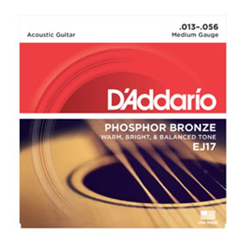 Daddario EJ17 Acoustic Guitar Strings 13-56
