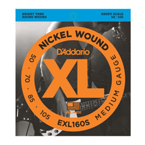Daddario EXL160S Short Scale Bass Strings 50-105