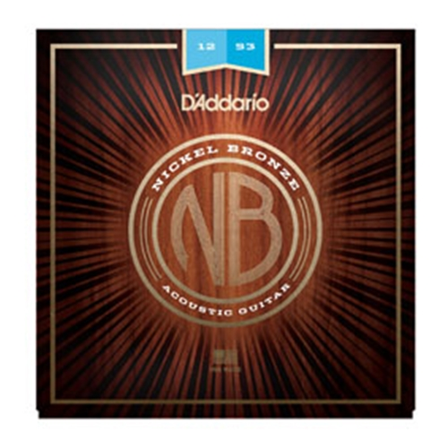 Daddario NB1253 Nickel Bronze Strings 12-53