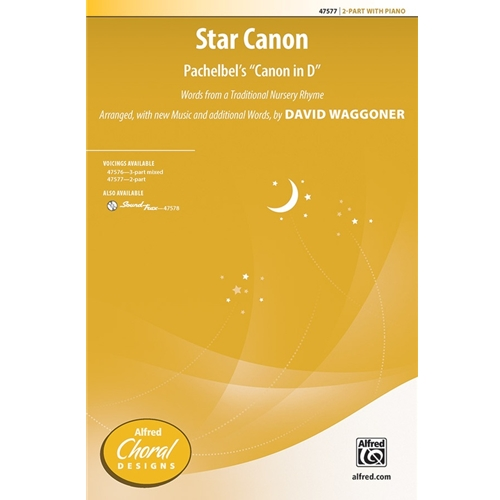 "Star Canon Pachelbel's ""Canon in D""  2-Part"